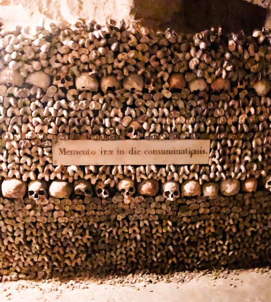 memento irae in die consummationis paris catacombs